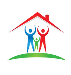 Family and house foundation logo