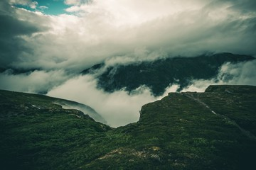 Wall Mural - Cloudy Norway Landscape