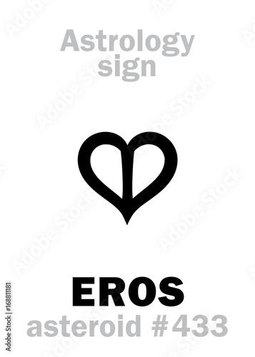 Astrology Alphabet: EROS, asteroid #433  Hieroglyphics