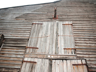front of wooden old house rural shipbuilding yard special rustic