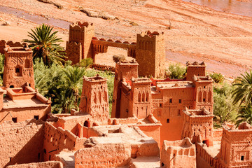 Part of Kasr of Ait Benhaddou, a fortified city, the former caravan way from Sahara to Marrakech. UNESCO World Heritage, Morocco