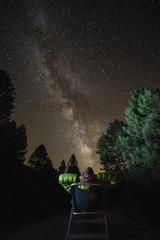 man looking stars