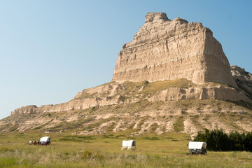 Scotts Bluff National Monument Covered Wagon Nebraska Midwest USA