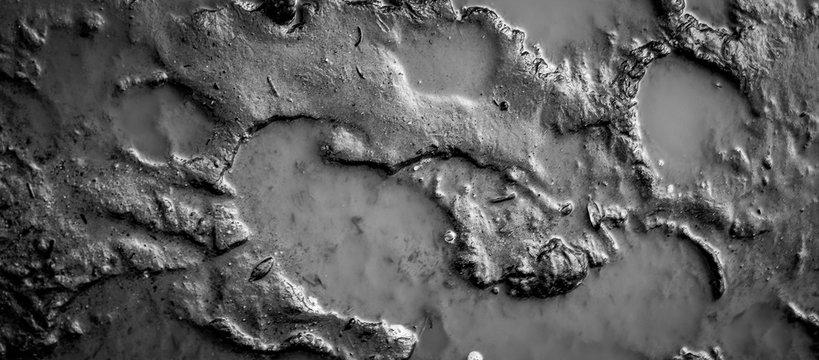 Monochromatic Mud Puddle