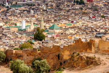 Panorama of Fez, the second largest city of Morocco. Fez was the capital city of modern Morocco until 1925 and
