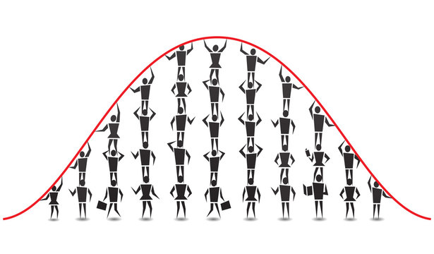 People Bell Curve Illustration
