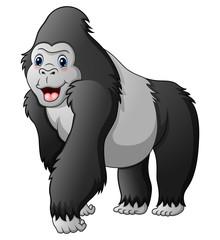 Cartoon funny gorilla