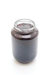 blueberry jam in jar
