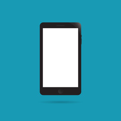 Smartphone flat icon style. Cellphone pictogram. Telephone symbol. Vector illustration, EPS10.