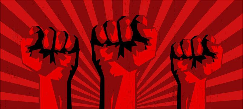 revolution fist concept