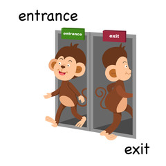 Opposite entrance and exit illustration