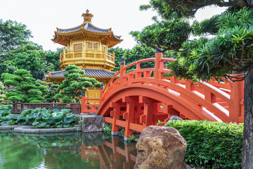 Golden Temple in Nan Lian Garden, Chi Lin Nunnery, Hong Kong.