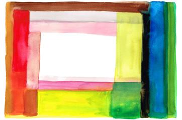 水彩の温かみのある色面構成 Warm color scheme of watercolor