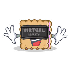 biscuit cartoon character style with virtual reality