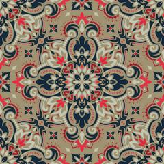 Printed kitchen splashbacks Moroccan Tiles Mandala. Ethnic motifs vector seamless pattern