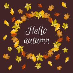 A banner of Hello autumn