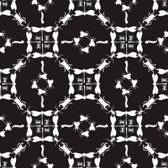 Pattern Insect Decor Black simplicity