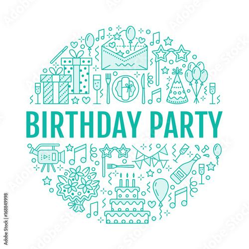 Birthday Party Balloon Decoration