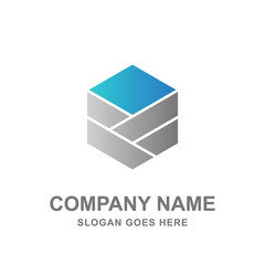 Geometric Hexagon Logo Business Company