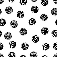 Black polka dot. Seamless pattern.