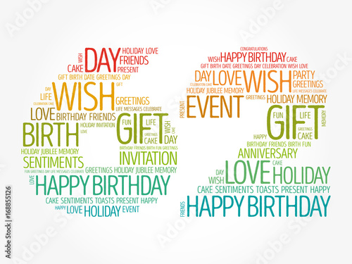 Happy 62nd birthday word cloud collage concept stock image and happy 62nd birthday word cloud collage concept m4hsunfo