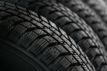 Protector of automobile tires. A number of automobile tires