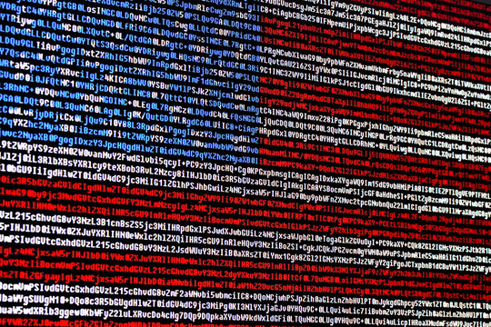 American flag consisting of computer code symbols