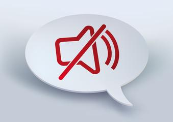 son - symbole - bulle de BD - liberté d'expression - informer - information - interdit