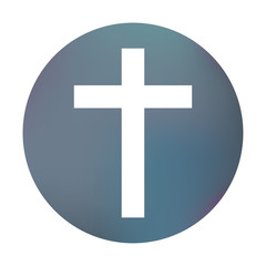 Farbiger Button - simples Kreuz