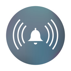 Farbiger Button - schrillende Glocke