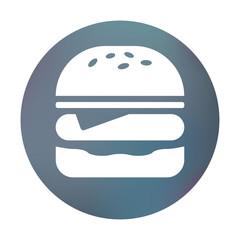 Farbiger Button - Burger