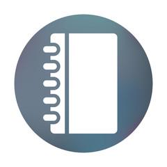 Farbiger Button - Notizblock