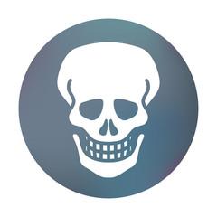 Farbiger Button - Gefahren-Symbol