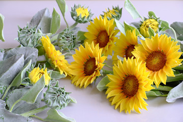 clay flower, sunflower bouquet