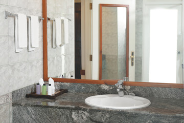 Bathroom in modern hotel at resort