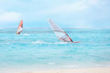 Active tourists at sea resort