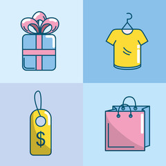set shopping online to marketing ecommerce