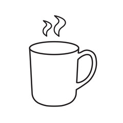 hot tea or coffee icon- vector illustration