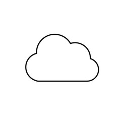 line cloud natural weather in the sky design