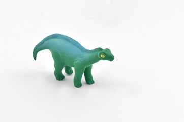 Dinosaur stock images. Dinosaur toy on a white background