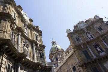 Quattro Canti in Palermo, Italy