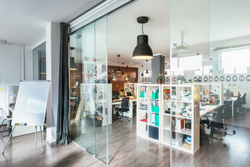 Meeting Room in a Modern Trendy Coworking Office
