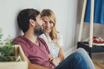 Boyfriend and Girlfriend Smiling