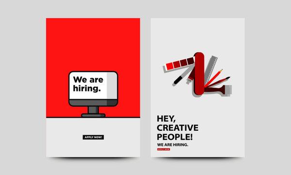 Hiring Recruitment Concept Posters