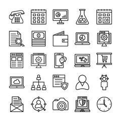 SEO and Marketing Vector Line Icons 1