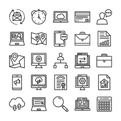 SEO and Marketing Vector Line Icons 3