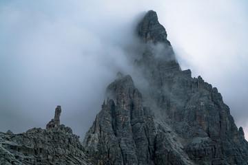 Foggy morning in Dolomites