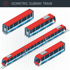 Isometric subway train