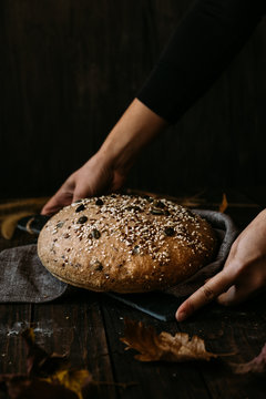 Homemade bread with seeds