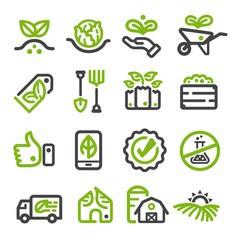 organic farm,organic vegetable thin line icon